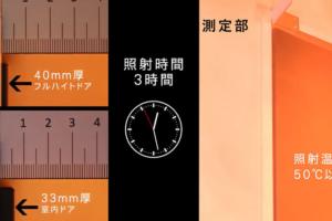ドア厚の違いによる反り比較検証試験